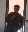 Adhitya saat menyampaikan kata sambutan sebagai ketua panitia ta'aruf mahasiswa baru