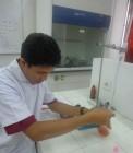 Adhitya saat penelitian tugas akhir