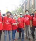 Adhitya bersama beberapa anggota Turun Tangan Pekanbaru