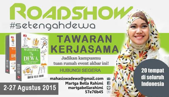 Tawaran kerjasama roadshow #SetengahDewa