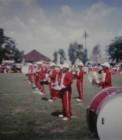 Adhitya saat tampil drumband di Bengkalis