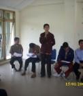Adhitya saat di LPJ BEM FTK