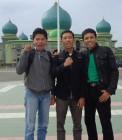 Adhitya bersama Romaito Azhar dan Hendra