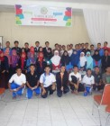 Adhitya saat menjadi pemateri di SMA Plus Riau