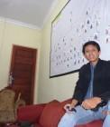 Adhitya di sekre BEM UIN Suska Riau