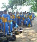 Adhitya menjadi pembina MOS SMA Taruna Dumai
