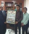 Adhitya bersama teman-teman Summer School bertemu rektor UIN Suska Riau