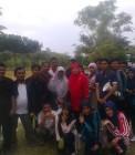 Adhitya bersama pelajar Mamberti saat acara Tadabbur Alam