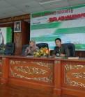 Adhitya saat menjadi moderator seminar HMJ Pendidikan Kimia UIN Suska Riau