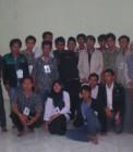 Adhitya bersama teman-teman LK II di Cilegon