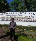 Adhitya saat proyek PLN di Kuansing