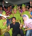 Adhitya saat pertunnjukan budaya di Indonesian Evening