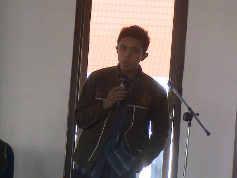 Adhitya saat memberikan sambutan sebagai ketua panitia